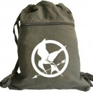 Hunger Games Backpack Green Canvas Drawstring