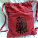 TARDIS Dr Who Backpack Red Book Bag