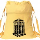 Drawstring Doctor Who Backpack Yellow Book Bag