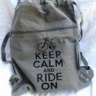 Keep Calm Ride On Backpack Gray Bike Bag