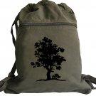 Tree of Life Backpack Green Drawstring Bag