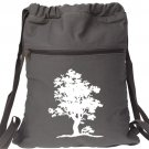 Tree of Life Backpack Gray White Book Bag