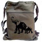 Elephant Backpack Mom and Calf Animal Book Bag