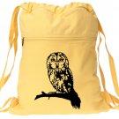 Owl Backpack Yellow Bird Drawstring Book Bag