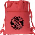 Seal of Rassilon Red Doctor Who Inspired Backpack