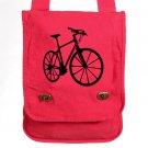 Bike Messenger Bag Red Custom Canvas Field Bag