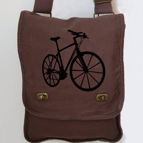 Bike Messenger Bag Brown Custom Canvas Field Bag