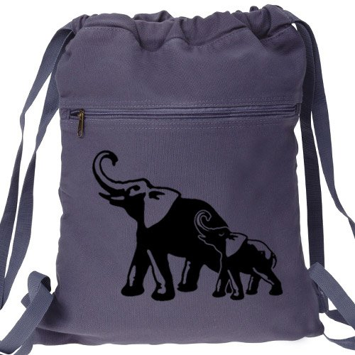 Elephant Backpack Mom Baby Blue Book Bag
