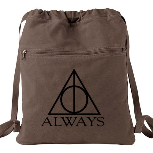 Harry Potter Always Backpack Brown - Deathly Hallows