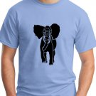 African Elephant Graphic Blue T-Shirt Large