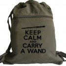 Harry Potter Keep Calm Carry a Wand Backpack Green