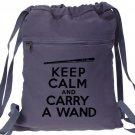 Harry Potter Keep Calm Carry a Wand Backpack Blue