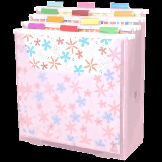 Scrap-eze Vertical Storage Organizer Kit Translucent Pink