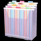 Scrap-eze Vertical Storage Organizer Kit Translucent Purple