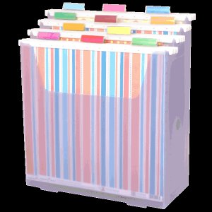 Scrap-eze Vertical Storage Organizer Kit Translucent Purple