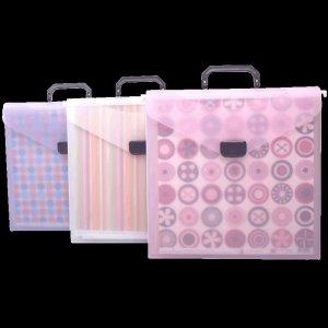 Scrap-eze Hanging File Crop Tote Translucent Pink