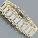 Real Mens Iced Out Pave Genuine Diamond Bubble Bracelet 9.75ct in 14 Karat Yellow Gold