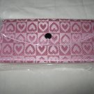 Women's Fashion Wallet ~ Pink with Hearts Design