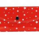 Women's Fashion Wallet ~ Red With White Stars