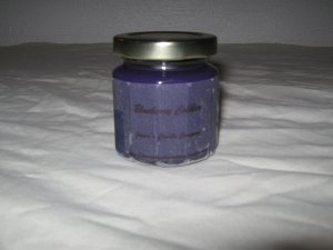 Blueberry Cobbler Scented 4 Ounce 12 Sided Classic Jar Candle