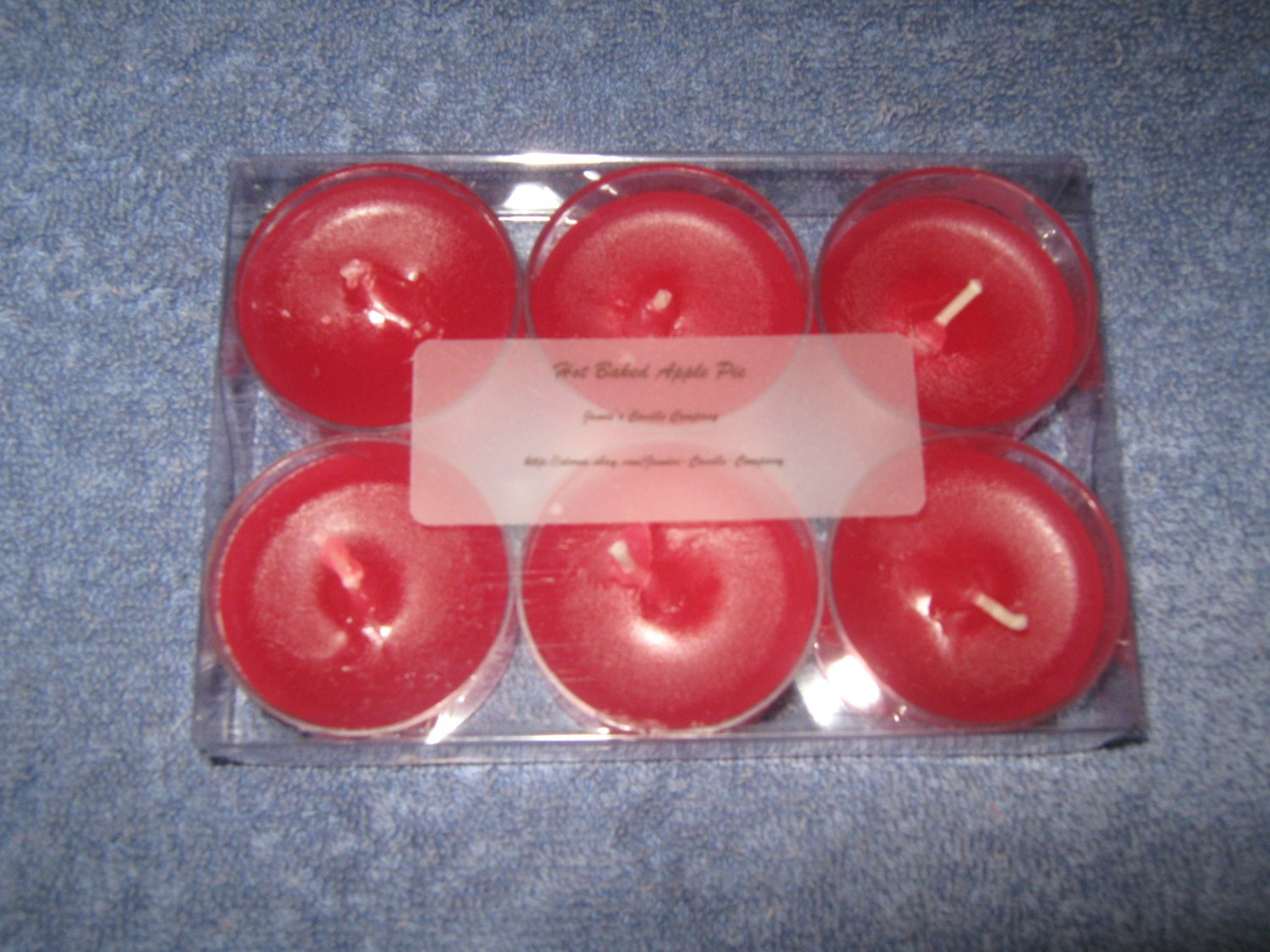 Hot Baked Apple Pie 6 Pack Tealight Candle Set