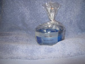 Spring Rain Scented 8 Ounce Glass Round Jar Candle