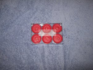 Cherry Scented 6 Pack Tealight Candle Set