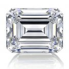 Emerald Cut Diamond 2 Carat D Color IF Clarity Very Good Cut Excellent Polish GIA Verifiable Report
