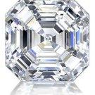 Asscher Diamond 1 Carat D Color  IF Clarity Very Good Cut Excellent Polish GIA Verifiable Report