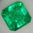 Emerald Columbia Natural 9.40 Carat Ascher Cut  Faceted Excellent Cut Grade Transparent