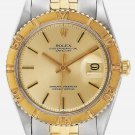 ROLEX MEN  DATEJUST  RARE TURNOGRAPH 36mm  AUTOMATIC CRONOGRAPH 2 TONE STEEL / 18 CARAT YELLOW GOLD