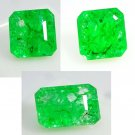 Earring Pair & Pendant Set of 3 Gem Stones  Emerald  Colombia   26.85 Carats Excellent Cut