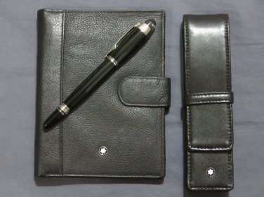 MB Leather Wallet and Pen with Case