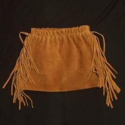 Girls Fringed Leather PowWow Western Skirt NEW 2