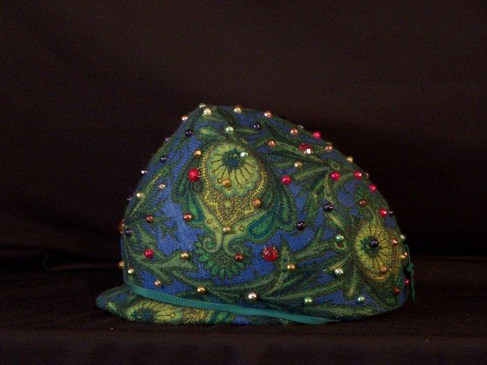 OOAK 60's Jeweled Beaded Vintage Hat