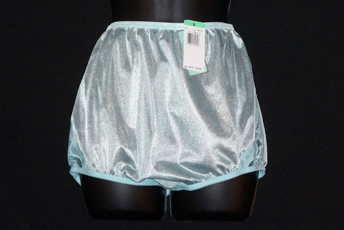 Vanity Fair Nylon Panties Aqua Turquoise Blue 8 Brand New