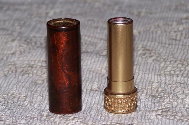 Vintage Avon Tortoise Tone Fashion Lipstick Tube