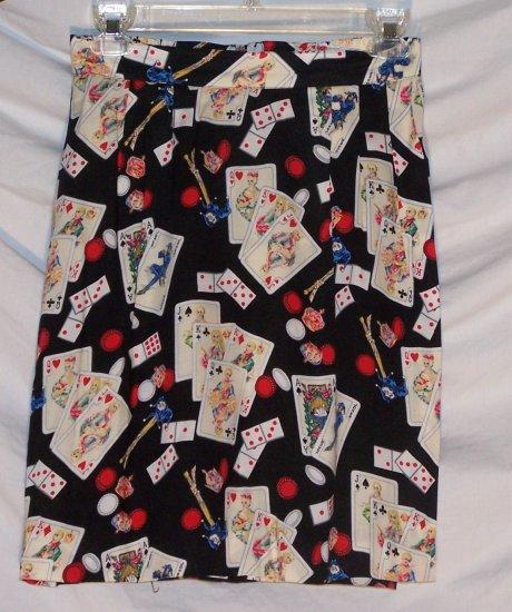 Casino Gambler Poker Gambling Wrap Skirt S Misses 4