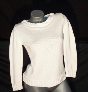 Ann Taylor Winter White Sweater S Excellent Condition!