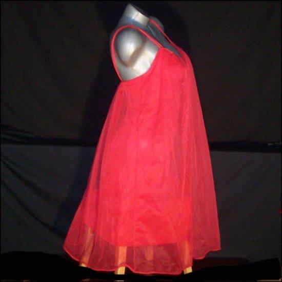Vintage Lingerie Formfit Rogers Nightgown Gown Nylon Sheer Chiffon Lace Applique
