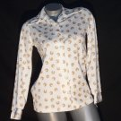 Vintage 70's Emo Indie Mod Polyester Double Knit Shirt Blouse Top