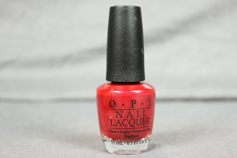 OPI Nail Lacquer DANKE-SHINY RED Nail Polish