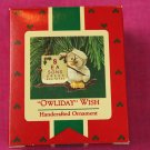 Owliday Wish Hallmark Keepsake Ornament 1987