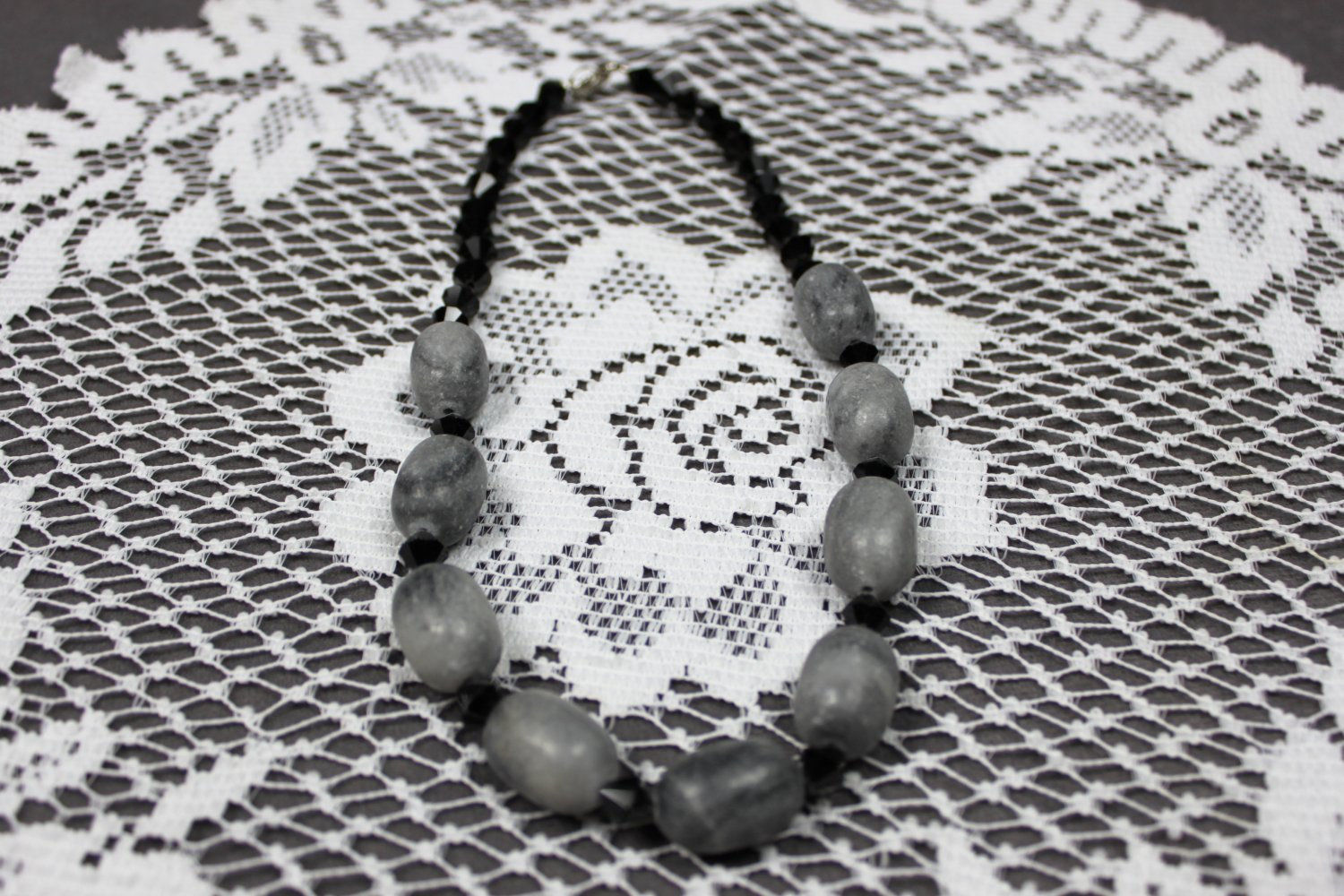 Chunky Black and Gray Necklace