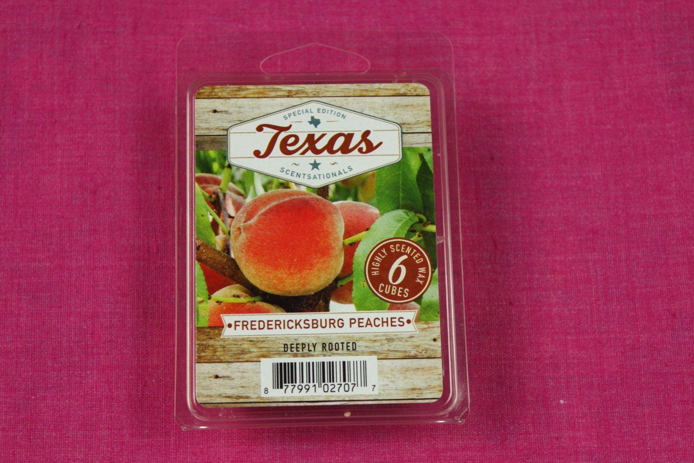 Scentsationals Fredericksburg Peaches Wax Melt Cubes Special Texas Edition