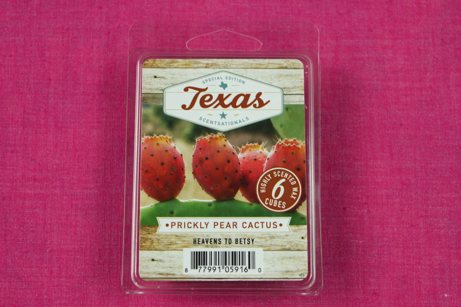 Scentsationals Prickly Pear Cactus Wax Melt Cubes Special Texas Edition