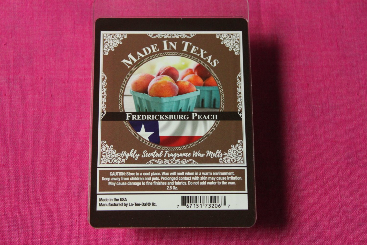 Made In Texas Fredericksburg Peach Wax Melt Cubes