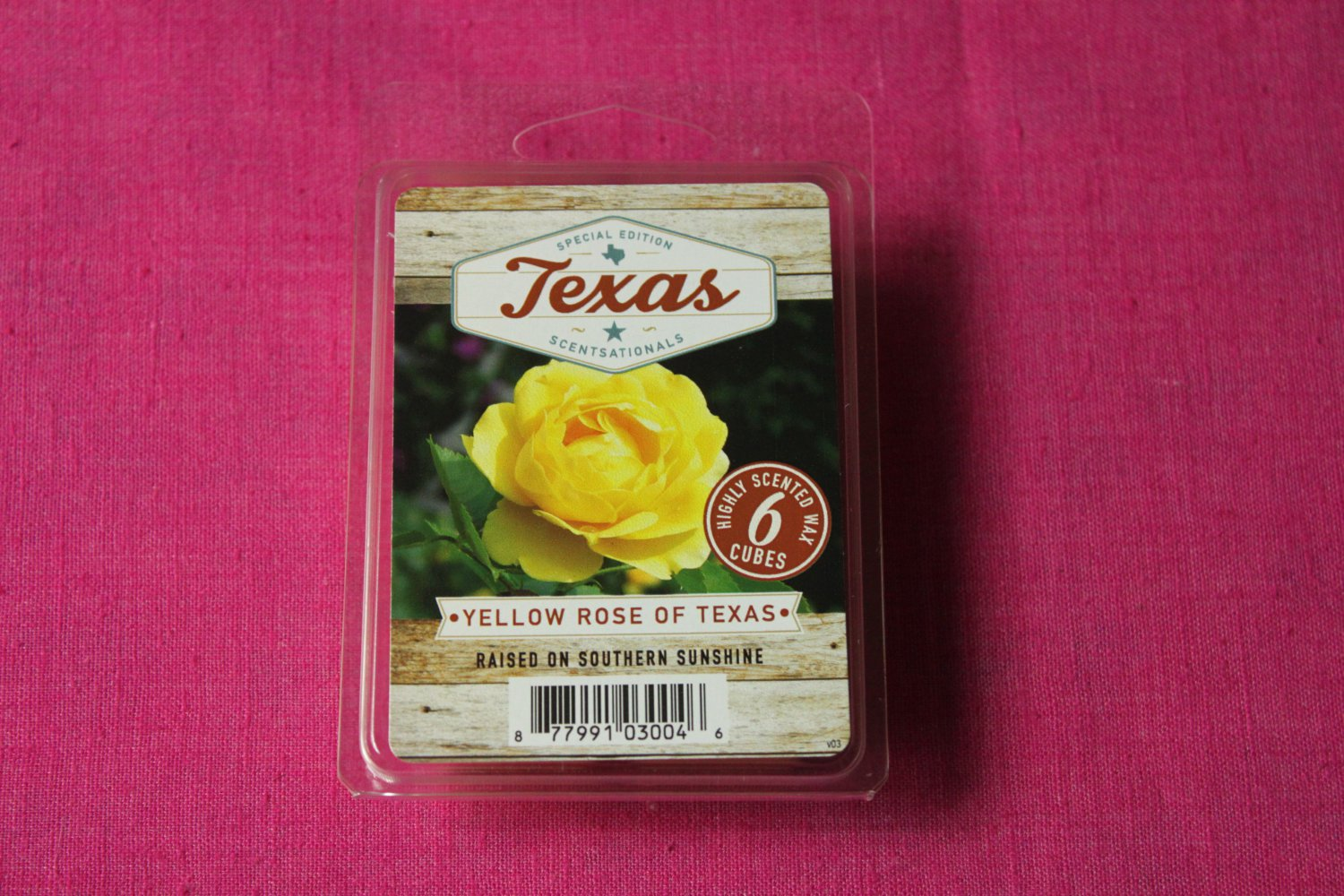 Scentsationals Yellow Rose of Texas Wax Melt Cubes Special Texas Edition