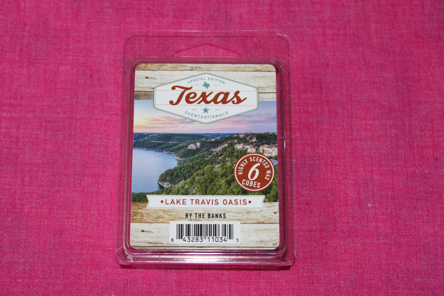 Scentsationals Lake Travis Oasis Wax Melt Cubes Special Texas Edition