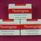 Neutrogena Transparent Facial Bar 3.5 oz, Acne Prone Formula 3 pack